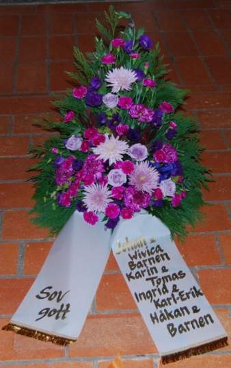 blommor betydelse begravning